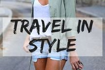 Travel in Style / Fashion on the go! Cute outfits to wear on your travels.  fashion chic | summer outfit | winter outfit | spring outfit | fall outfit | bikini | beachwear | smart casual | street style