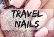 Travel Themed Nails / Paint your nails pretty colour before going on the road. nails | travel nails | holiday nails | summer nails | pretty nails