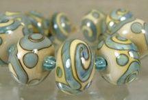 My glassbeads Blue & Aqua