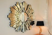Mirrors On Wall / Mirrors help spaces appear bigger and brighter! They are very eye catching and can really transform a wall.
