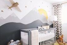 Baby Boy's Nursery Room Decor / Fun and Creative Decor Ideas for a new baby boy's room.