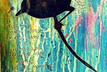 Art Journaling Inspiration / This board is full of art journals, pages and expressive techniques/effects that inspire me. Hope they inspire you too! If you click on the photo it will take you to each person's blog, article or website so you can see more of their art.