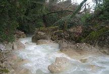 """Πεζοπορία ως το ποτάμι στο δικό μας """"Πάντα βρέχει"""" / Διασχίζοντας τις όχθες του Κριού ποταμού, ο επισκέπτης έχει τη δυνατότητα μέσα από μια διαδρομή φυσικού κάλλους και έντονης βλάστησης, να επισκεφθεί το δικό μας «Πάντα Βρέχει». Το τοπίο μαγευτικό. Γεμάτο φτέρες, σταλαγμίτες και σταλακτίτες, άγριες ορχιδέες και βρύα. Το νερό σταλάζει από ψηλά λες και η φύση καλεί τον επισκέπτη να κάνει φυσικό ντους απολαμβάνοντας την άγρια ομορφιά του τοπίου."""