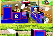 Kid's Party - Thomas the Train / Welcome to this board filled with cool ideas for throwing a Thomas the Train Party - or any train themed party.  We used many of these ideas for my grandson Jett's 2nd. birthday