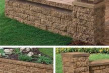 Tango- One Block Does It All / Designed for do-it-yourself projects, the Tango™ lawn-and-garden project block is amazingly versatile for enhancing your outdoor entry and living spaces. One block does it all and requires no cutting! Create columns, seat walls, edgers and more!  #tangoblock