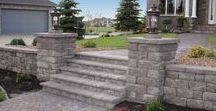 Outdoor Step Ideas / Your landscape project takes a step in the right direction with Anchor step units. Visit anchorwall.com to find the Anchor Wall Systems retailer nearest you.