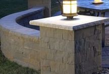 Beautiful Landscaping Columns / Concrete stone columns supply an elegant finished look to your outdoor landscaping project. Add a landscape column to a retaining wall, patio surround, or raised flower bed to improve curb appeal. Incorporating landscape column lighting provides a functional and attractive element to your outdoor design. Find the ideal columns for your landscaping project. Visit www.anchorwall.com to find the Anchor Wall retailer nearest you.