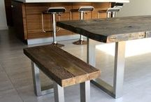 Mac+Wood Tables & Matching Benches / Mac+Wood tables & matching benches