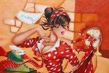 Pin Up - Colette Falardeau / Pin up works by Colette Falardeau