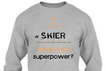 Happy Skiing Men Sweaters / I love skiing, you love skiing, everyone loves skiing. Let us all ski to the end of times and express it through fashionable sweater ideas.