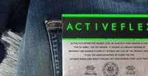 Activeflex / Active Flex for men enhances functionality and denim, a cutting-edge innovation designed with an inner invisible technology to enhance wearability, style and fit. The jeans maintain a truly rigid, purist look with distinct twill lines and yarn character, while ensuring ease and versatility for every lifestyle. The authentic spirit of this resistant fabric is combined with one-of-a-kind performance for flexibility and freedom of movement.
