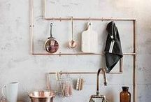Copper Décor Inspiration / Looking for inspiration for copper furnishings? We've handpicked a selection of beautifully thought out room designs making use of copper accenting and furnishings.