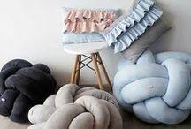 Puffs / knot cushion knot puffs