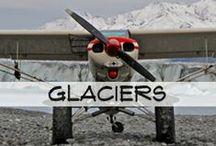 Glaciers / Blue Ice Aviation on the glaciers.