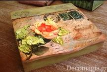 Boxes with decoupage - Κουτιά με ντεκουπάζ / Lovely boxes made with the art of decoupage