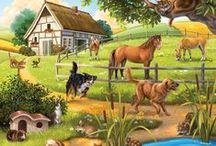 Farma / zvieracie rodinky a domáce i lesné