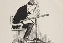 John Francis Knott Cartoons / John Francis Knott (1878-1963) worked as a cartoonist at the Dallas Morning News from 1905 to 1957. His work gained national and international attention during World War I. The John Knott Portrait Drawings and Cartoons series is part of the Belo Records (1842-2007) Archive, held the DeGolyer Library, SMU.  View the John Knott Portrait Drawings and Cartoons series: http://digitalcollections.smu.edu/cdm/search/collection/bel/searchterm/Series%2017%20Knott/