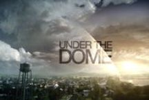 "Under the Dome / An invisible and mysterious force field descends upon a small fictional town in the United States, trapping residents inside, cut off from the rest of civilization. The trapped townsfolk must discover the secrets and purpose of the ""dome"" and its origins, while coming to learn more than they ever knew about each other."