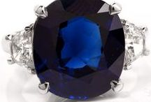 Sapphire Engagement Ring / Sapphire and Diamond Antique Engagement Rings.
