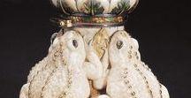 Glass, porcelain, ceramics, ivory, metal /  вазы,графины, кубки, табачные  ёмкости, нюхательные пузырьки, лампы