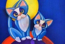 Cat Art by Alma Lee