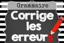 Enseigner la grammaire / Des exercices de grammaire, du matériel fabriqué par des enseignants pour un apprentissage de la grammaire en cours, ou à domicile! Regardez la liste complète sur http://www.mieuxenseigner.com