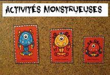 Halloween / Les monstres font peur aux enfants, mais pas s'ils sont gentils! Activités d'Halloween