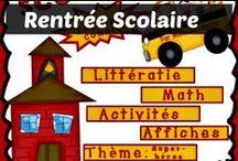 Rentrée / Retour à l'École / Des activités amusantes pour les enfants dès la rentrée c'est très important. Voici des idées d'activités de rentrée scolaire pour les enfants!