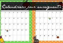 Calendriers / Qu'ils soient interactifs, pour rappeler les anniversaires, ou juste pour prévenir les absences, les calendriers sont indispensables.