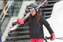KATE & PIPPA / Kate and Pippa wearing Alexski gloves as featured in Hello magazine.