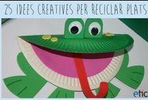 Papírové talíře / Tvoření z papírových talířů - zvířatka, masky