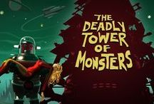 The Deadly Tower of Monsters / The Deadly Tower of Monsters is an action-packed adventure video game for PC and PS4 inspired by Sci-Fi B-movies from 40s-70s.  Get it on  Steam: http://store.steampowered.com/app/353700  GOG: https://www.gog.com/game/the_deadly_tower_of_monsters  PlayStation 4: https://www.playstation.com/en-us/games/the-deadly-tower-of-monsters-ps4/  Official website: http://www.deadlytowerofmonsters.com/