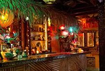 Tiki bar & party inspiration / Ideas to Tiki bars and Hawaii'an inspired partys