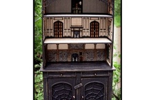 """Witch's Hollow Kits / The Cupboard is 2"""" scale and the furniture is 1/4"""" scale."""