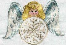 Punto croce Angeli / Punto croce