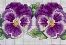 Punto croce Fiori e Farfalle / fori