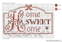 "Punto croce "" Home sweet home"""