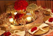 Vermelho e Dourado - Decoração para Casamento / Red and Gold Wedding / by Michele Pessanha Barbosa
