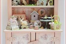 """Easter Altered Cabinet / This collection is a 1"""" scale Cabinet and the accessories."""