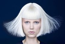 idcaption⎪White Hair Style / White... Silver. Platinum gray. Free your own hair color style. Chic and simplicity.