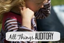 Auditory Processing { Hearing } / Activities, Games and Resources Related to Auditory Sensory System... Everything from music education to tips for sensory overlaod