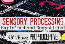 Proprioceptive Processing {Pressure} / Activities, Games and Resources Related to Proprioceptive Sensory System... Everything from Wheelbarrow races to tips for calming the sensory systems with heavy work