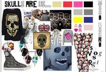 "Colour way - ""Skull"" Motif / T-shirt Designs"
