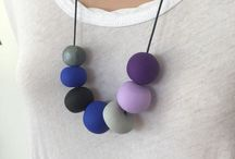 Polymer clay Necklaces / Hand crafted polymer clay necklaces
