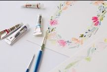Hand Painted Wedding Invites / Wedding+ colour is a hand painted wedding invitation service for brides looking to make their wedding that unique day. All painted and designed by hand using watercolour and fine line drawings.