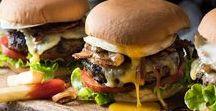 Burger / Easy Homemade Burger Recipes / Yummy Burger Ideas / Melted Cheese and Fatty Bacon / Burger Sauce / Burger Buns