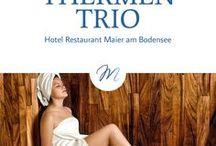 Thermen Trio / Im Urlaub soll man es sich gut gehen lassen. Am Bodensee gelingt das am besten in den Thermen des Thermen Trios. Die Sauna- und Badekultur am Bodensee erwartet Sie.