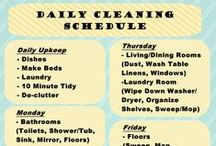 Home: Cleaning and Organizing / How to organize the home and make cleaning easier from schedules to diy cleaning products.