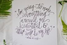 Penned! / Moving quotes and amazing calligraphy