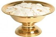 Church Supplies - Ciboria - Communion Host Bowls / Ciborium refers to a covered container used in Roman Catholic, Anglican, Lutheran, and related churches to store the consecrated hosts of the sacrament of Holy Communion. Christian Expressions offers a variety  of sizes and styles of ciboria and communion host boxes to fit your churches needs.